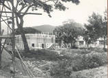 Buildings under construction at the Faculty of Natural Sciences, UCWI, Mona, 1951.
