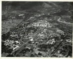Aerial view of University College of the West Indies, Mona, the University College Hospital of the...