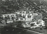 Aerial view of the University College Hospital of the West Indies, Mona, Jamaica.
