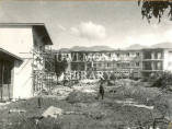 Irvine Hall being constructed at the University of the West Indies, Mona Campus, 1952.