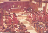 Installation of Sir H. E. Allen Lewis as Chancellor of the University of the West Indies, 1975.