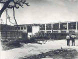 Department of Chemistry after a hurricane in 1951.