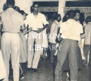 Trinidad and Tobago - undergraduates at end of tour fete held at the Pollards, in Port of Spain.