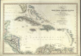 Map of the West India & Bahama Islands with the adjacent Coasts of Yucatan, Honduras, Caracas...